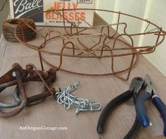 jelly jar canning rack outdoor-chandelier tutorial from an oregon cottage