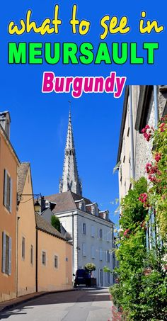 Discover Meursault, a charming little town nestled in the vineyards of Burgundy, not far from Beaune! Cote De Beaune, Burgundy France, Places To See, How To Find Out, In This Moment, French, Activities, Explore, Vacation