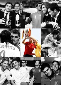 Iker & Sergio Real Madrid, Football, Movie Posters, Movies, Siempre Contigo, Hipster Stuff, Iker Casillas, Sergio Ramos, Life