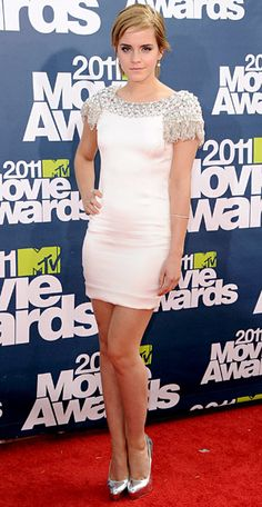 2011 MTV Movie Awards Flashback: #EmmaWatson was her usual chic self in a jewel-embellished satin #Marchesa mini. http://news.instyle.com/photo-gallery/?postgallery=58298#