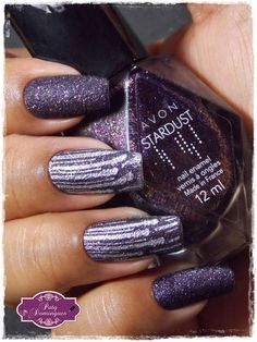 Polished Plum - Avon  e carimbada com Artist Collection 07 - MoYou