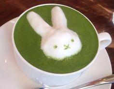 Japanese Matcha Latte. 3Dラテアート