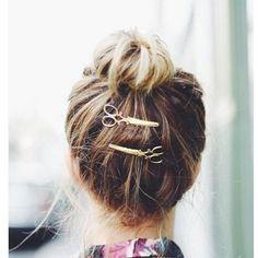 Scissors Hairpins