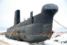 Submarine in the snow - Rimouski