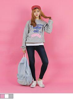 [베이비오일맨투맨] #키키코 #KIKIKO #1월 #신상 #NEW #ARRIVAL #키작녀 #쇼핑몰 #10대 #여성 #Dailylook #Fashion