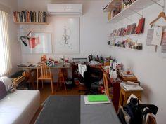Vista geral do ateliê de Gabriela Irigoyen (crédito da foto: Gabriela Irigoyen)