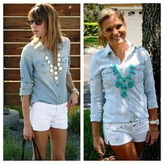 bauble necklace outfit - Google Search