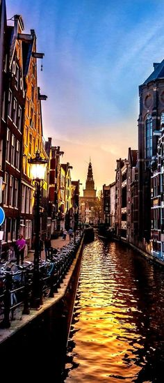 Sunset in Amsterdam - The Netherlands