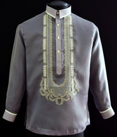 Start with our newest style for a cleaner, more modern design #NewDesignBarongTagalog #BarongsRUs #ModernBarongTagalog