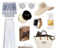 """""""Style #259"""" by elisabethiskandar on Polyvore featuring Miguelina, Eric Javits, Christian Dior, Ancient Greek Sandals, Hermès, Bobbi Brown Cosmetics and Tom Ford"""