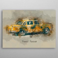 Travis' Taxicab by Abraham Szomor | metal posters - Displate