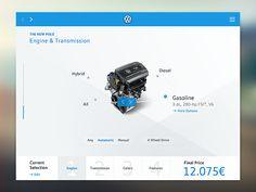 Volkswagen Car Configurator iPad App | Flat UI Design
