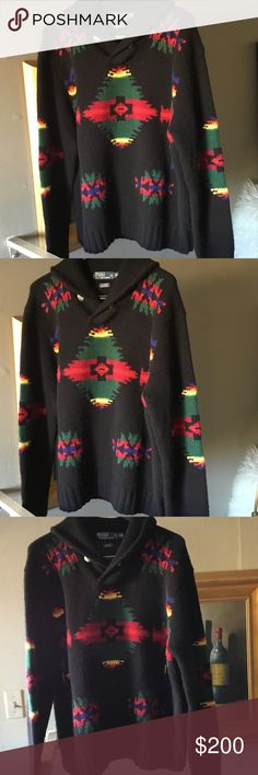 😎Polo Ralph Lauren Cashmere Aztec sweater 2xl Absolutely fabulous sweater such a classic in excellent preowned condition size 2xl Polo by Ralph Lauren Sweaters