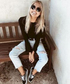 Trendy fall outfits for school you need to wear now 31 rahat kıyafetler, gr Casual Chic Outfits, Trendy Fall Outfits, Fall Outfits For School, Fashion Outfits, Womens Fashion, Foto Casual, Sr1, Junior Outfits, Outfit Goals