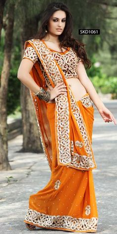 Enrapturing Mustard Sari   Item code : SKD1061  http://www.bharatplaza.com/womens-wear/best-of-our-collections/enrapturing-mustard-sari-skd1061.html https://www.facebook.com/bharatplazaportal https://twitter.com/bharat_plaza
