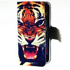 brølende tiger mønster hele kroppen Case for iPhone 5/5s – DKK kr. 48