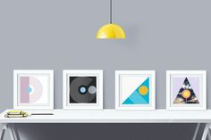 Four Elements  Abstract Graphic Art  Mod Geometric by DELTANOVA