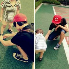 Wah...Kookie with a baby!