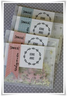 Pochettes à confettis pour le Nouvel An par Angel Melie (tuto :http://angelmelie.canalblog.com/archives/2014/12/30/31226446.html#utm_medium=email&utm_source=notification&utm_campaign=angelmelie)