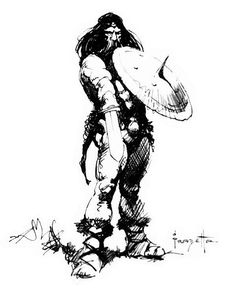 Frank Frazetta Pen & ink