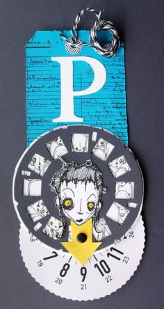 Artwork created by Lena-dailyscrap using rubber stamps designed by Daniel Torrente for Stampotique Originals