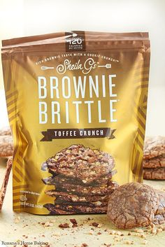 Toffee Crunch Chocolate Cookies with brownie brittle