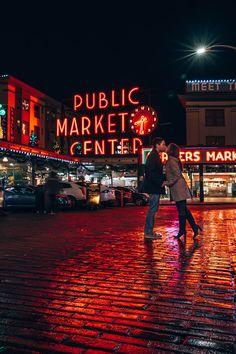 Pikes Place | Seattle, Washington #seattle #washington #travel #photography #couple #pikeplace Seattle Photography, Couple Photography, Travel Photography, Seattle Travel Guide, Seattle Vacation, Washington State University, Seattle Washington, Seattle Pictures, Sleepless In Seattle