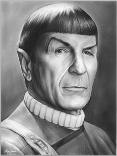 March 1931 – February was an American actor, film director, poet, singer and pho. Leonard Nimoy as Mr. Spock in Star Trek Celebrity Caricatures, Celebrity Drawings, Celebrity Portraits, Star Trek Characters, Star Trek Movies, Pencil Portrait, Portrait Art, Cool Pencil Drawings, Pencil Art