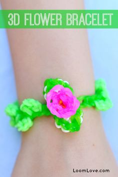 How to Make a 3D Flower Bracelet on your Rainbow Loom - Video Tutorial