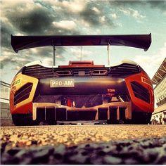 Flame thrower...... McLaren MP4-12C GT3