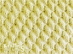 Knit and Purl stitch Combinations. Left Diagonal Rib stitch pattern includes written instructions and video tutorial. Knitted in a multiple of 6 sts. Rib Stitch Knitting, Knit Purl Stitches, Knitting Stiches, Baby Hats Knitting, Knitting Kits, Knitting Charts, Loom Knitting, Knitting Patterns, Knit Rug