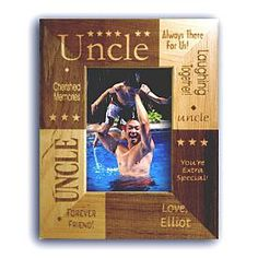 uncle frame vertical 5x7 from 1 child