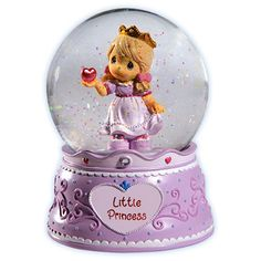 Precious Moments Little Princess Musical Snow Globes
