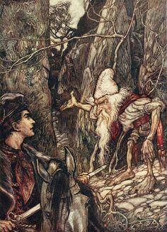 Иллюстрации к сказкам Arthur Rackham