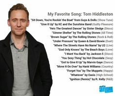 Tom Hiddleston - Favourite Songs