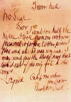 Carta de Jack The ripper