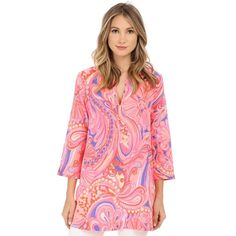NWT Lilly Pulitzer Marco Island Tunic Size XS It is in the pattern Reef Retreat. The pink is a very neon color. Never been worn. Size XS Lilly Pulitzer Tops Tunics