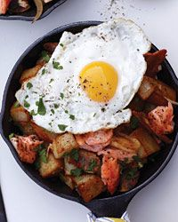 Salmon, Bacon and Potato Hash // More Terrific Egg Breakfasts: http://fandw.me/AII #foodandwine