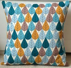 NEW 18 Scandinavian Leaf Cushion Cover by GreenOwlInteriors