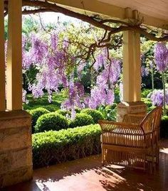 Most porches, like mine, look out onto a public street. What a gorgeous view you have from this porch.