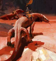 ArtStation - Lizard Riders, John Park