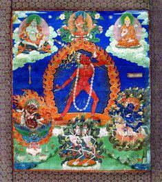 Painting of the goddess Narodakini, Tibet, Buddhist Texts, Marian Goodman, Black Sisters, David Hockney, Hindu Art, Museum Exhibition, Tantra, Gods And Goddesses, Hinduism