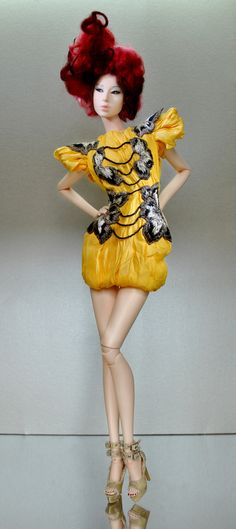OOAK Fashion Doll in Couture.