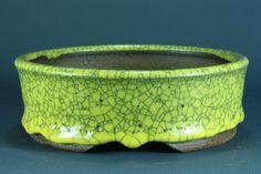 Bonsai pot Ø 14,8 cm, own glaze, fresh out of my kiln. Potter: Roman Husmann