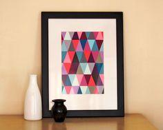 Arte com paleta de cores