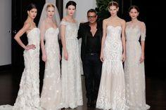 De ontwerper Naeem Khan showde zijn bruidscollectie in New York.