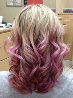 Pale pink ombre