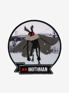 Have you been to Point Pleasant lately? Next time in West Virginia keep your eyes open for the legendary Mothman! This patch features an embroidered Mothman with a black & white city bridge image in the background. Cool Patches, Pin And Patches, Cat Patch, Black And White City, Mothman, Cryptozoology, Mermaid Blanket, Crochet Patterns For Beginners, Craft Stick Crafts