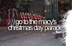 go to the macy's christmas day parade