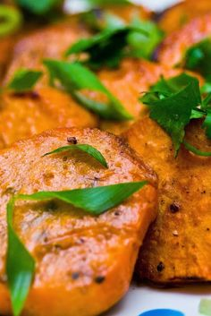 Grilled Sweet Potatoes with Lime and Cilantro   Never thought of grilling sweet potatoes, but that is the comment I got from everyone at my brother's birthday gathering. Everyone loved the potatoes. They are so delicious.